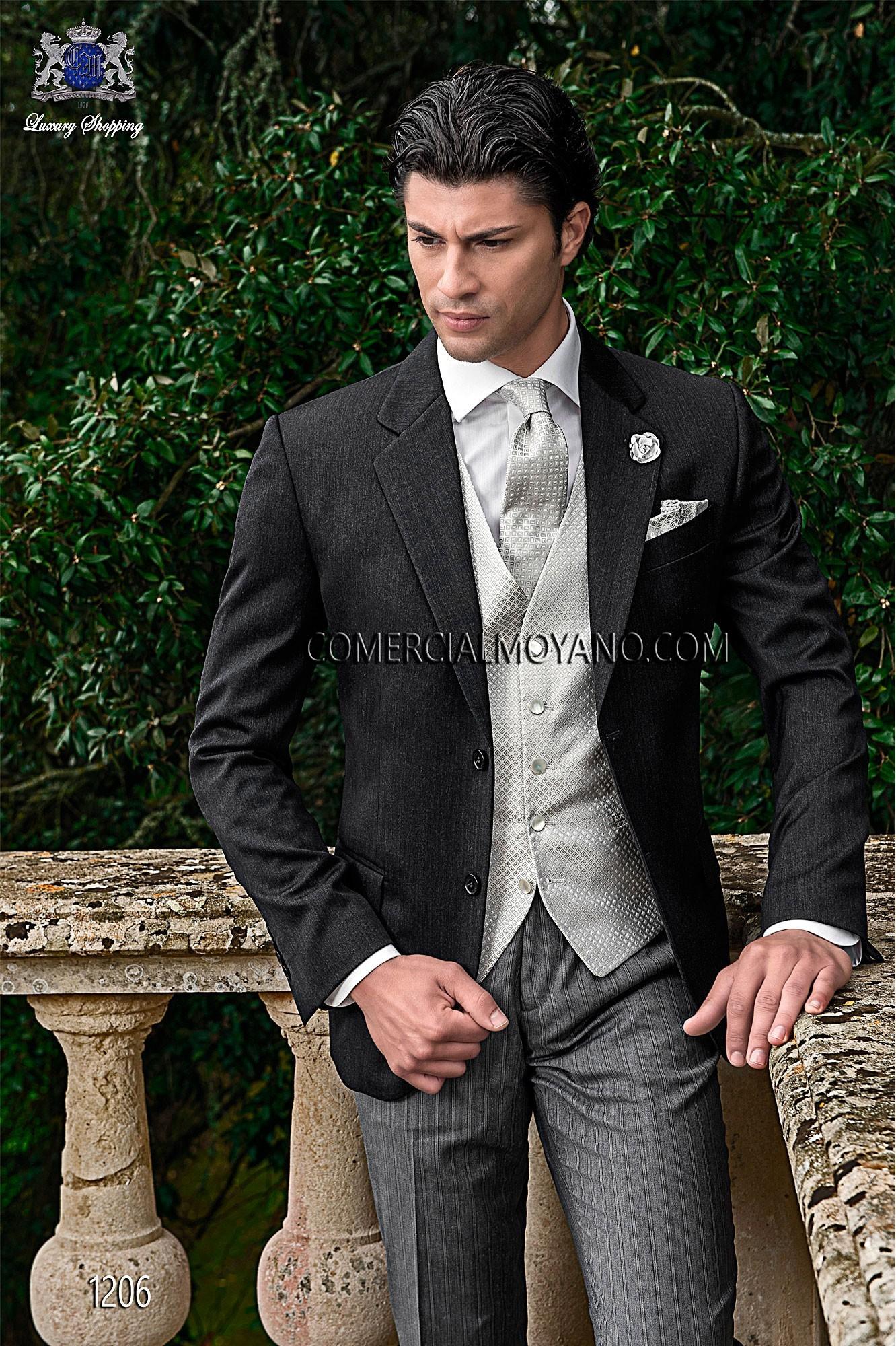 Gentleman grey men wedding suit model 1206 Ottavio Nuccio Gala