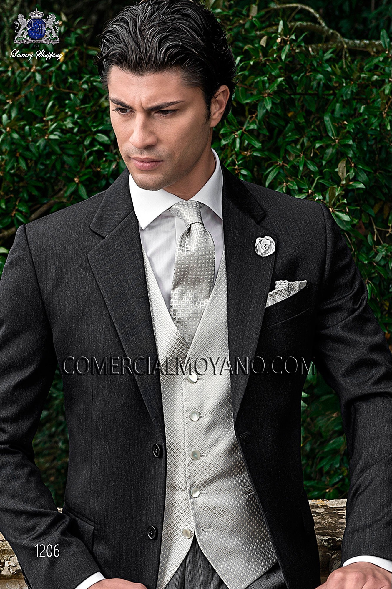 Traje Gentleman de novio gris modelo: 1206 Ottavio Nuccio Gala colección Gentleman