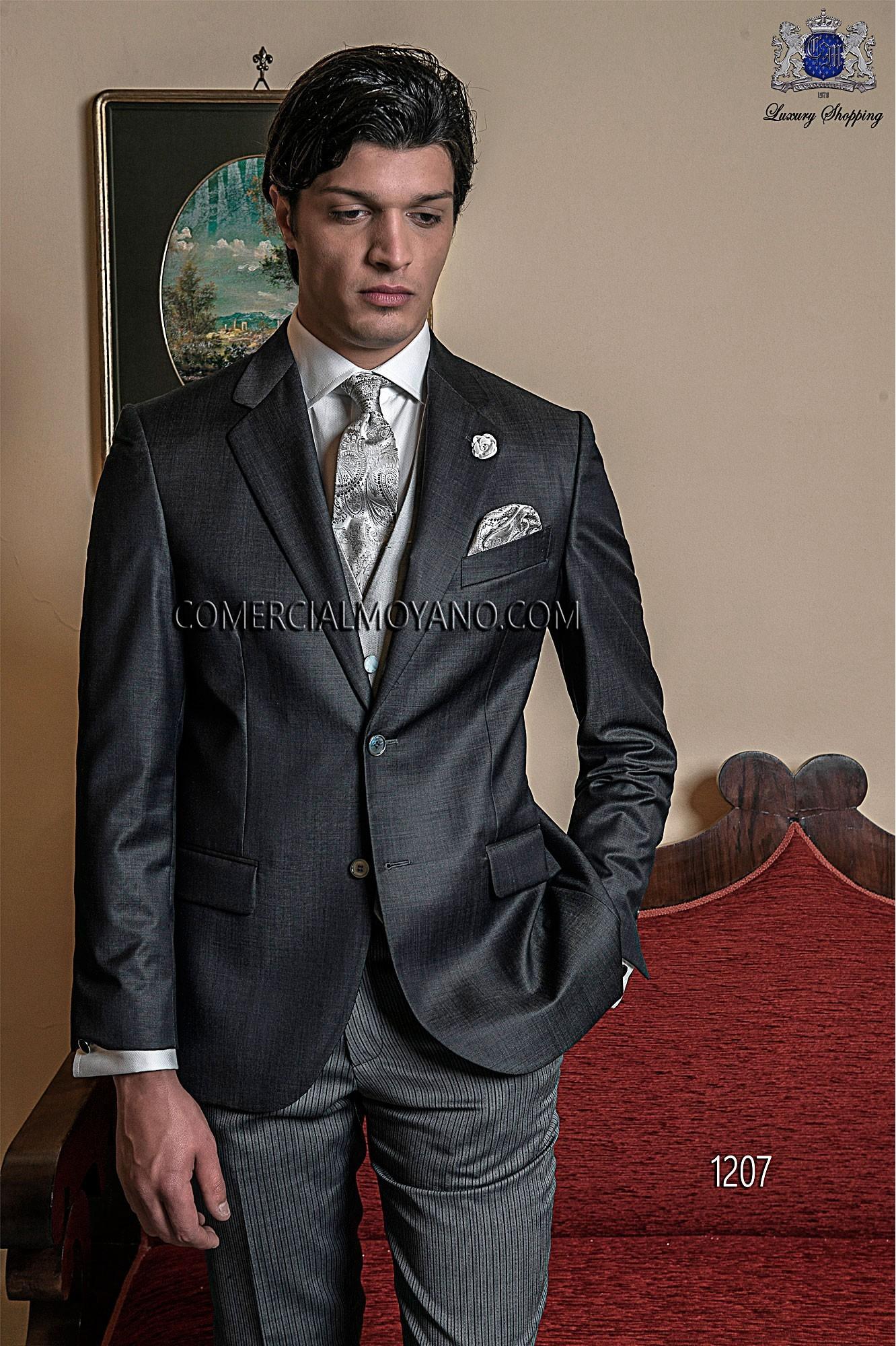 Traje de novio italiano gris modelo: 1207 Ottavio Nuccio Gala colección Gentleman