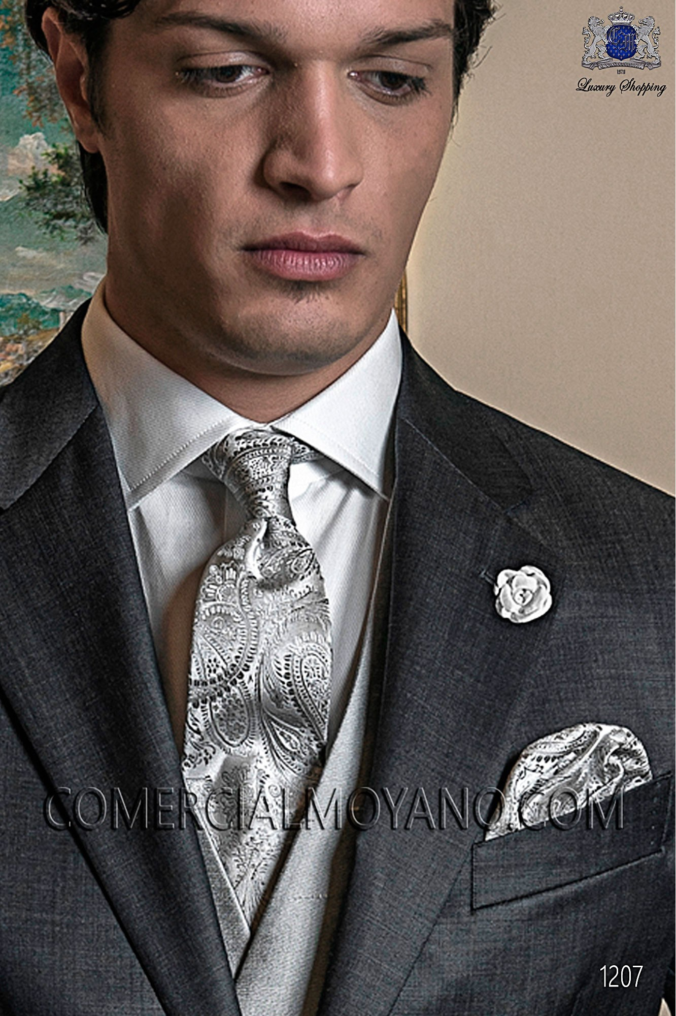 Italian gentleman gray men wedding suit, model: 1207 Ottavio Nuccio Gala Gentleman Collection
