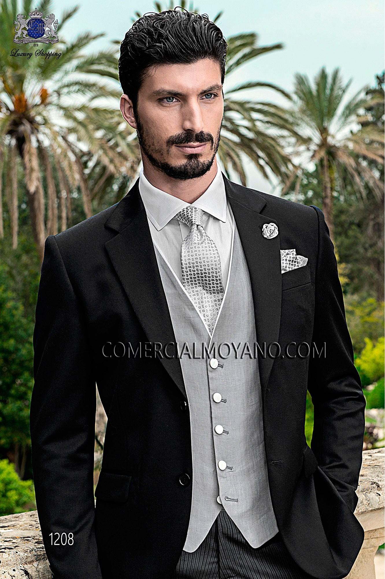 Traje Gentleman de novio negro modelo: 1208 Ottavio Nuccio Gala colección Gentleman