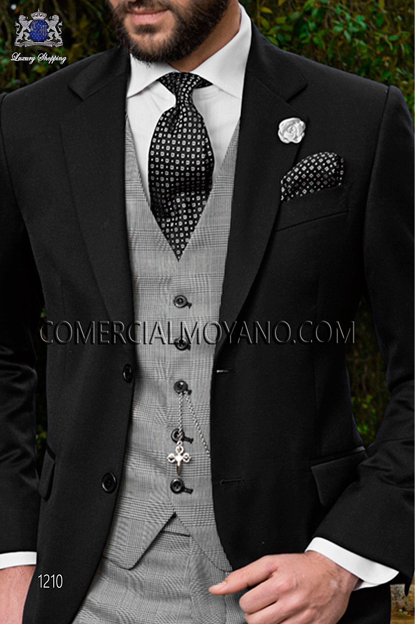 Gentleman black men wedding suit, model: 1210 Ottavio Nuccio Gala ...