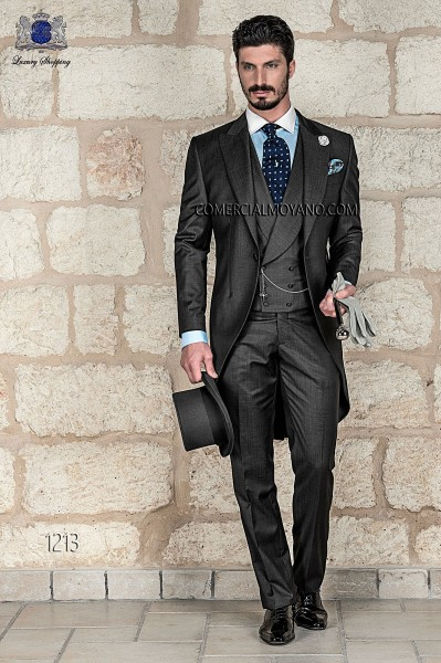 Italian gentleman gray men wedding suit style 1213 Ottavio Nuccio Gala