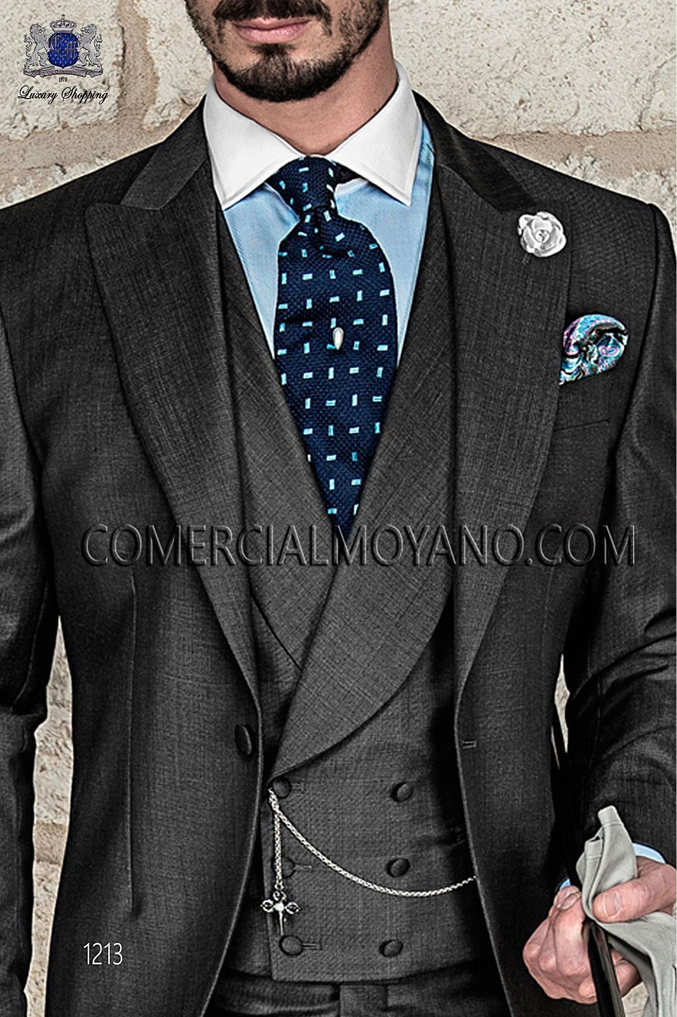 Italian gentleman grey men wedding suit, model: 1213 Ottavio Nuccio Gala 2017 Gentleman Collection