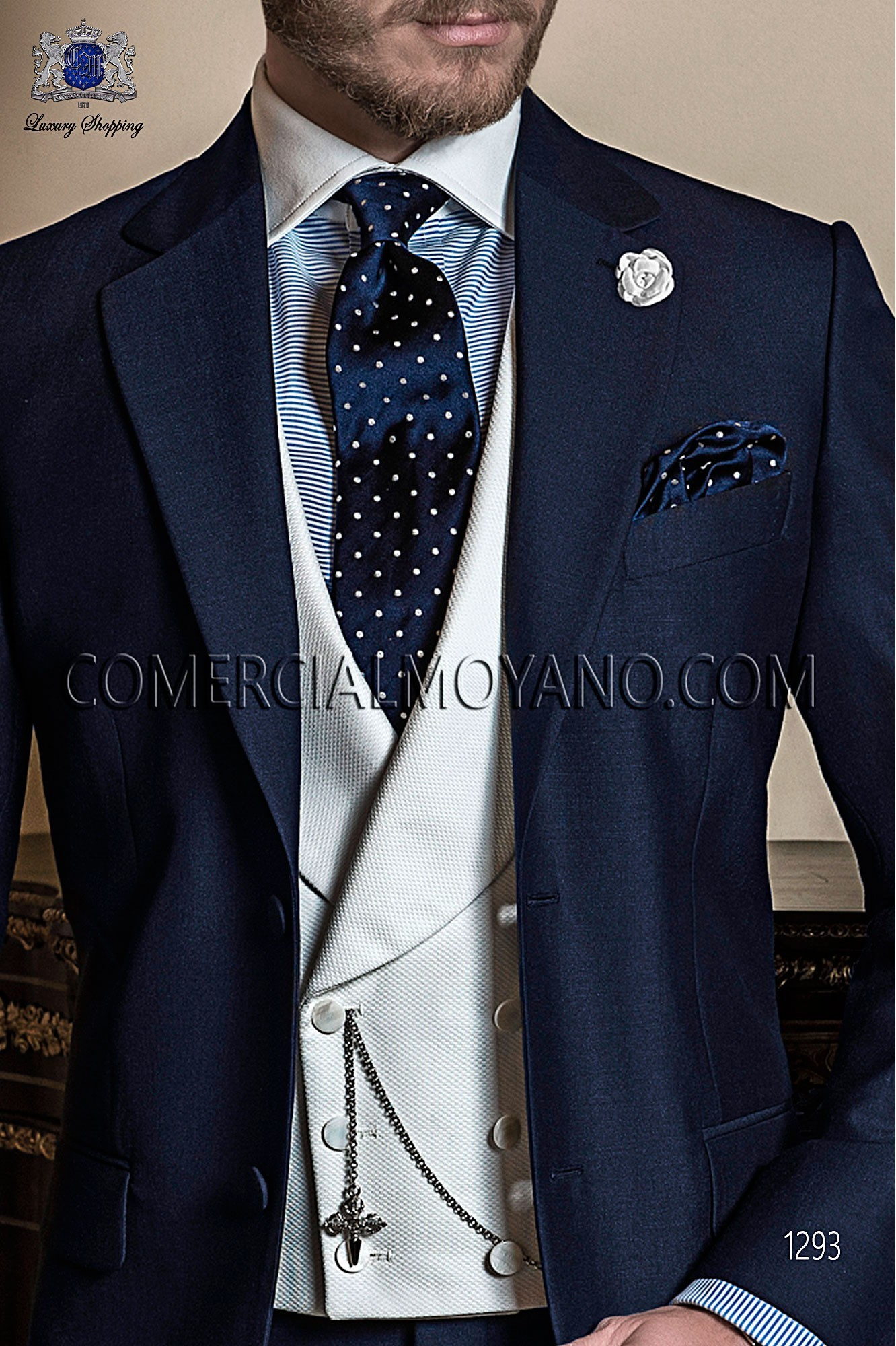 Italian gentleman blue men wedding suit, model: 1293 Ottavio Nuccio Gala Gentleman Collection