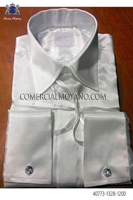 Ecru microfiber shirt