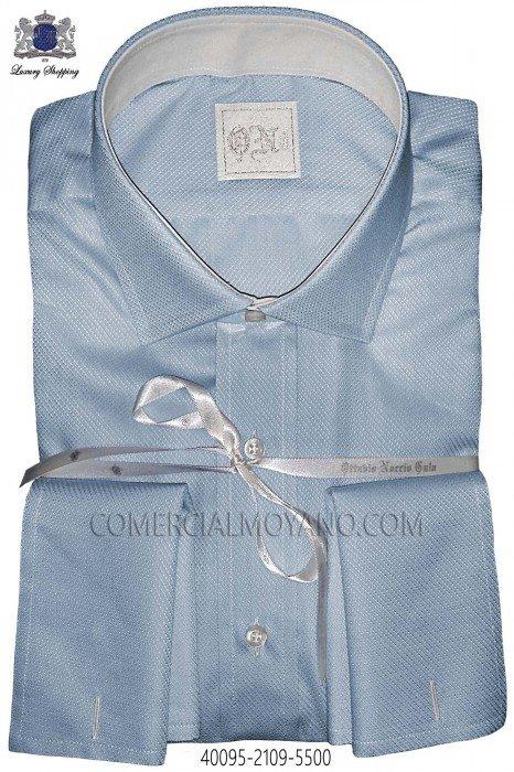 Light blue plain cotton shirt
