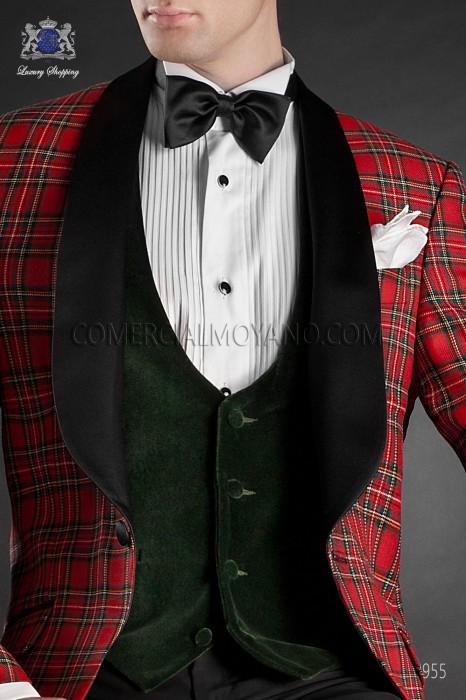 Green velvet waistcoat