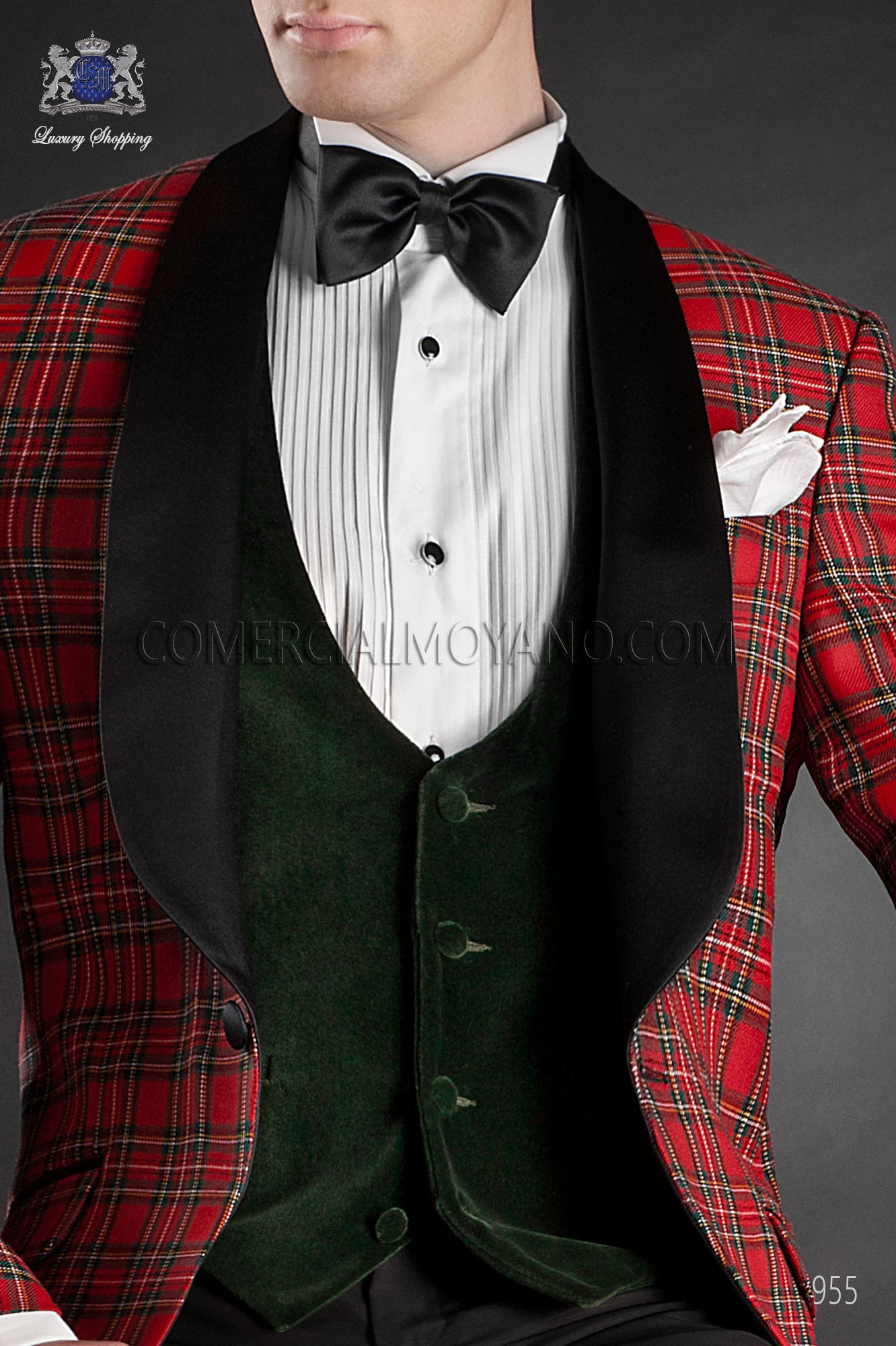 Green and black waistcoat