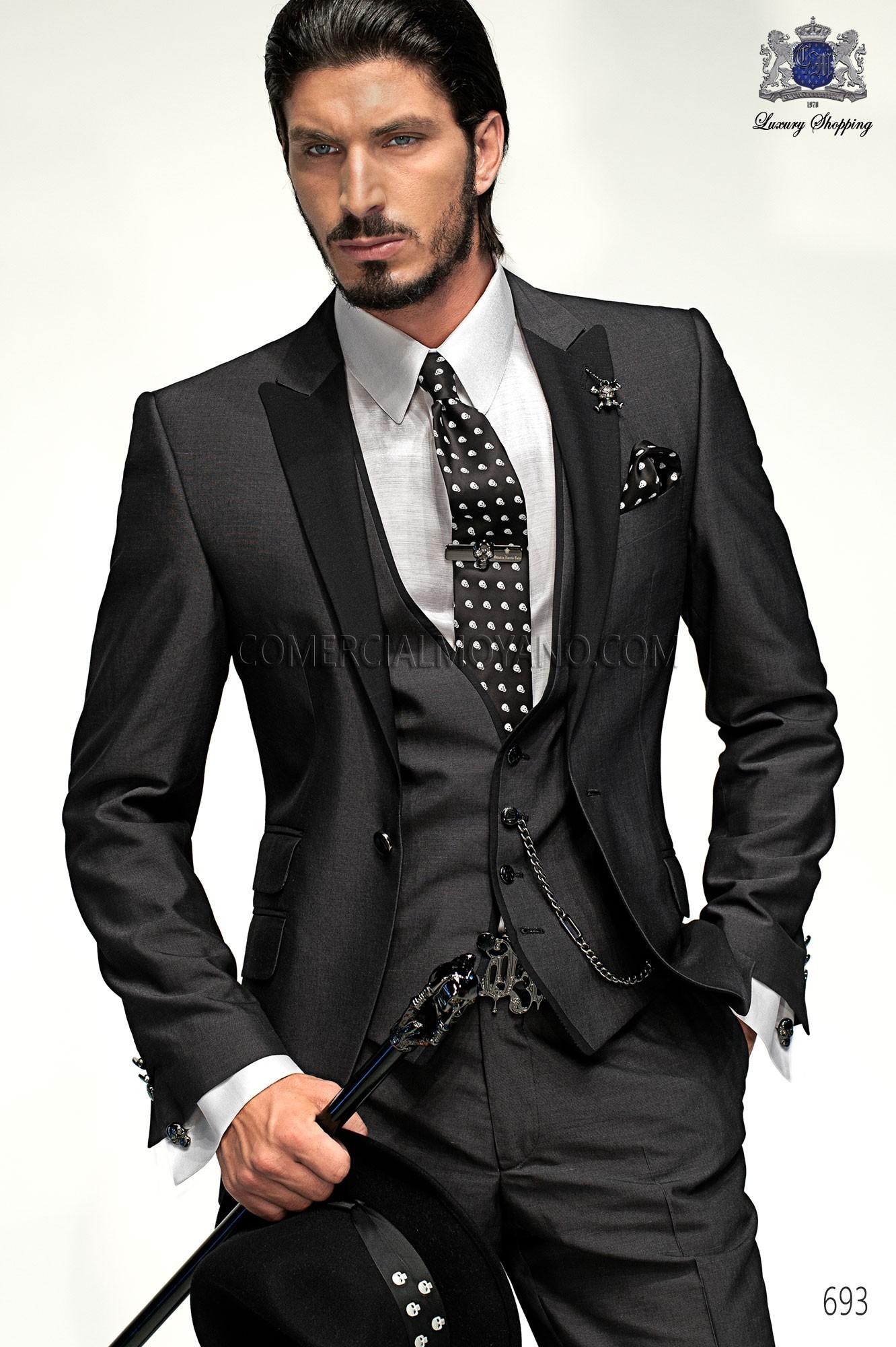 Traje de moda hombre gris modelo: 693 Ottavio Nuccio Gala colección Emotion