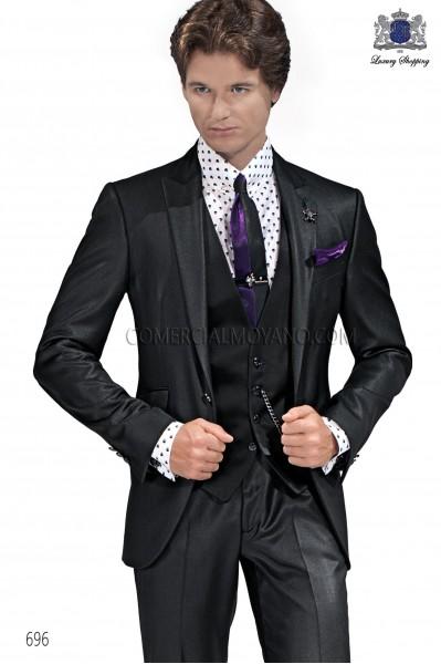 Traje moda italiano negro 696 Ottavio Nuccio Gala