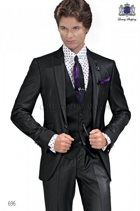Italian black men fashion suit 696 Ottavio Nuccio Gala