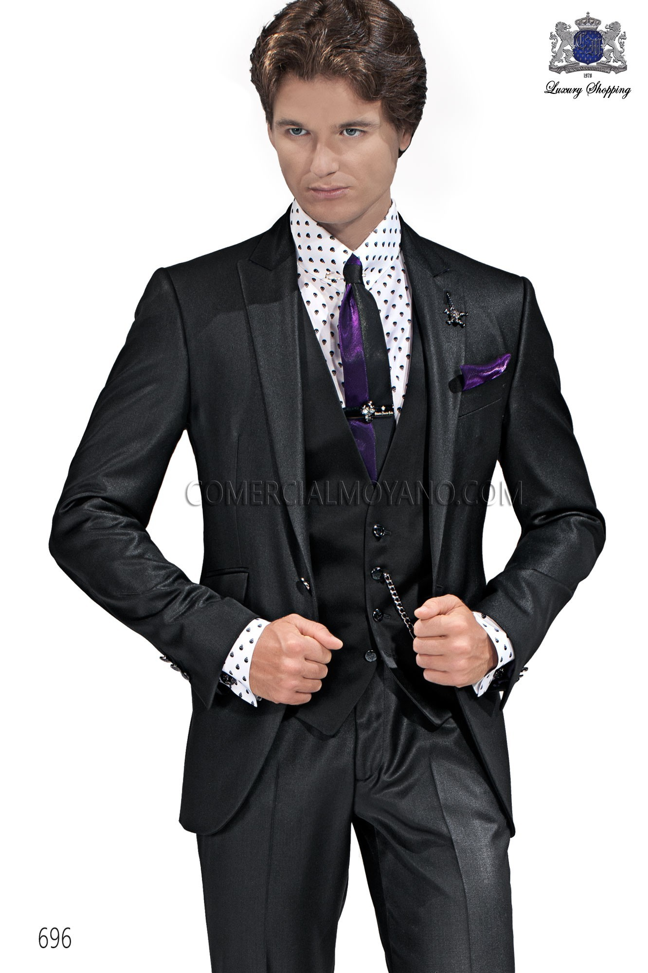 Emotion black men wedding suit model 696 Ottavio Nuccio Gala