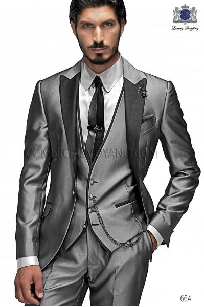 Italian emotion gray men wedding suit style 664 Ottavio Nuccio Gala