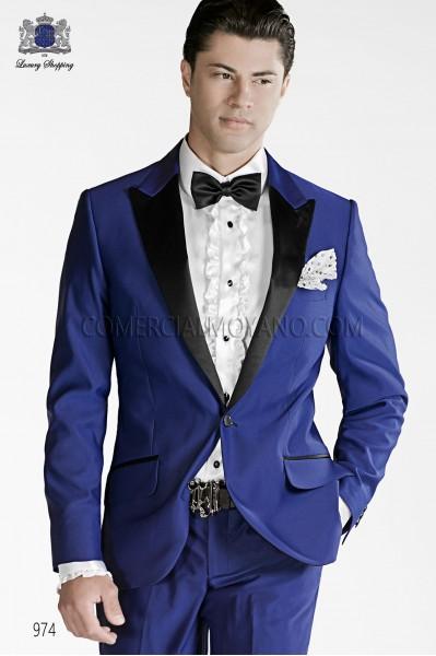 Traje de novio moderno azul modelo 974 colección Emotion Ottavio Nuccio Gala