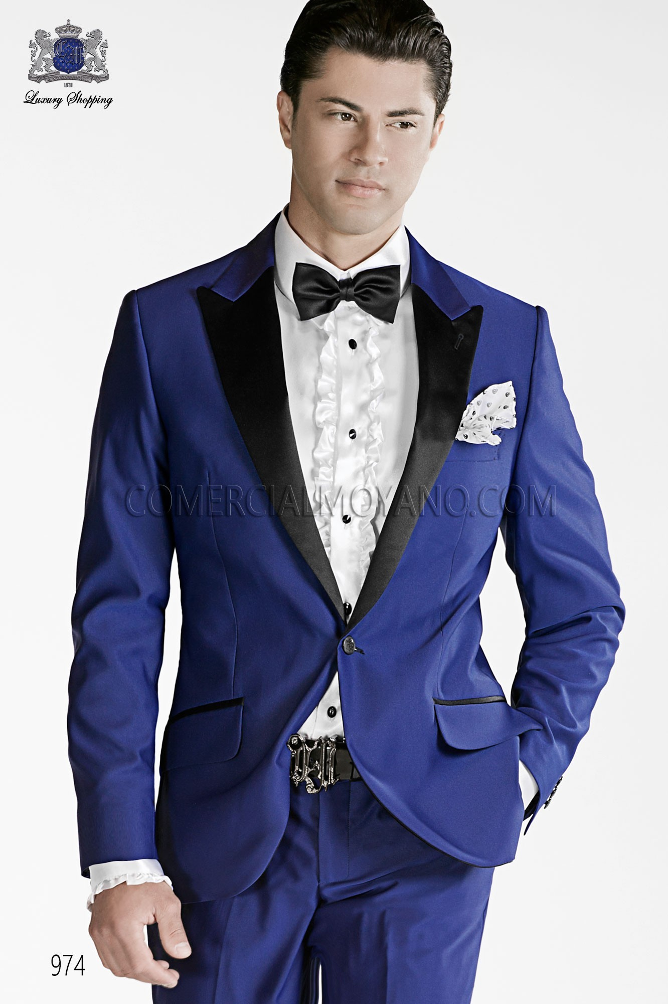 Emotion blue men wedding suit model 974 Ottavio Nuccio Gala