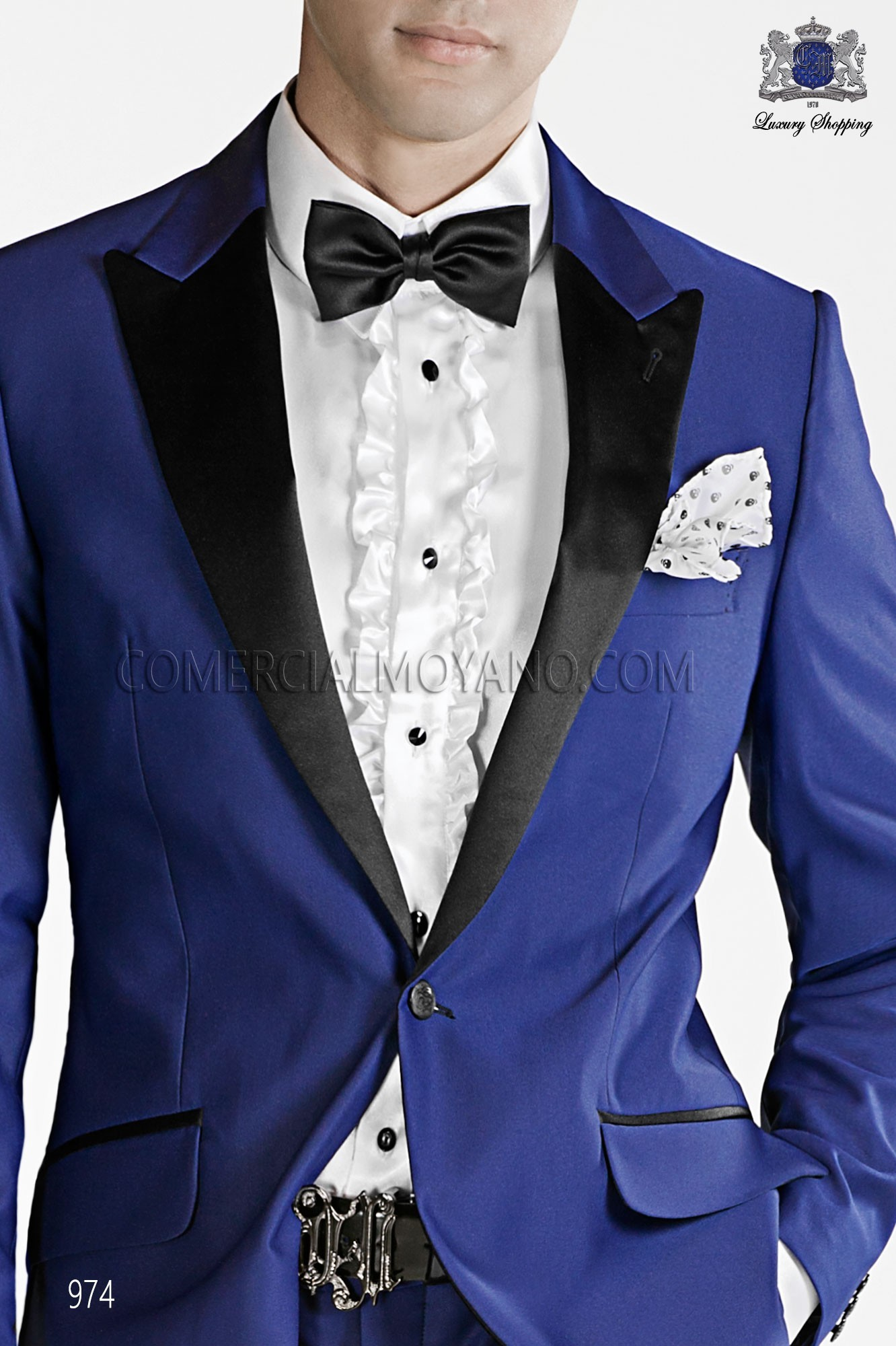 Italian emotion blue men wedding suit, model: 974 Ottavio Nuccio Gala Emotion Collection