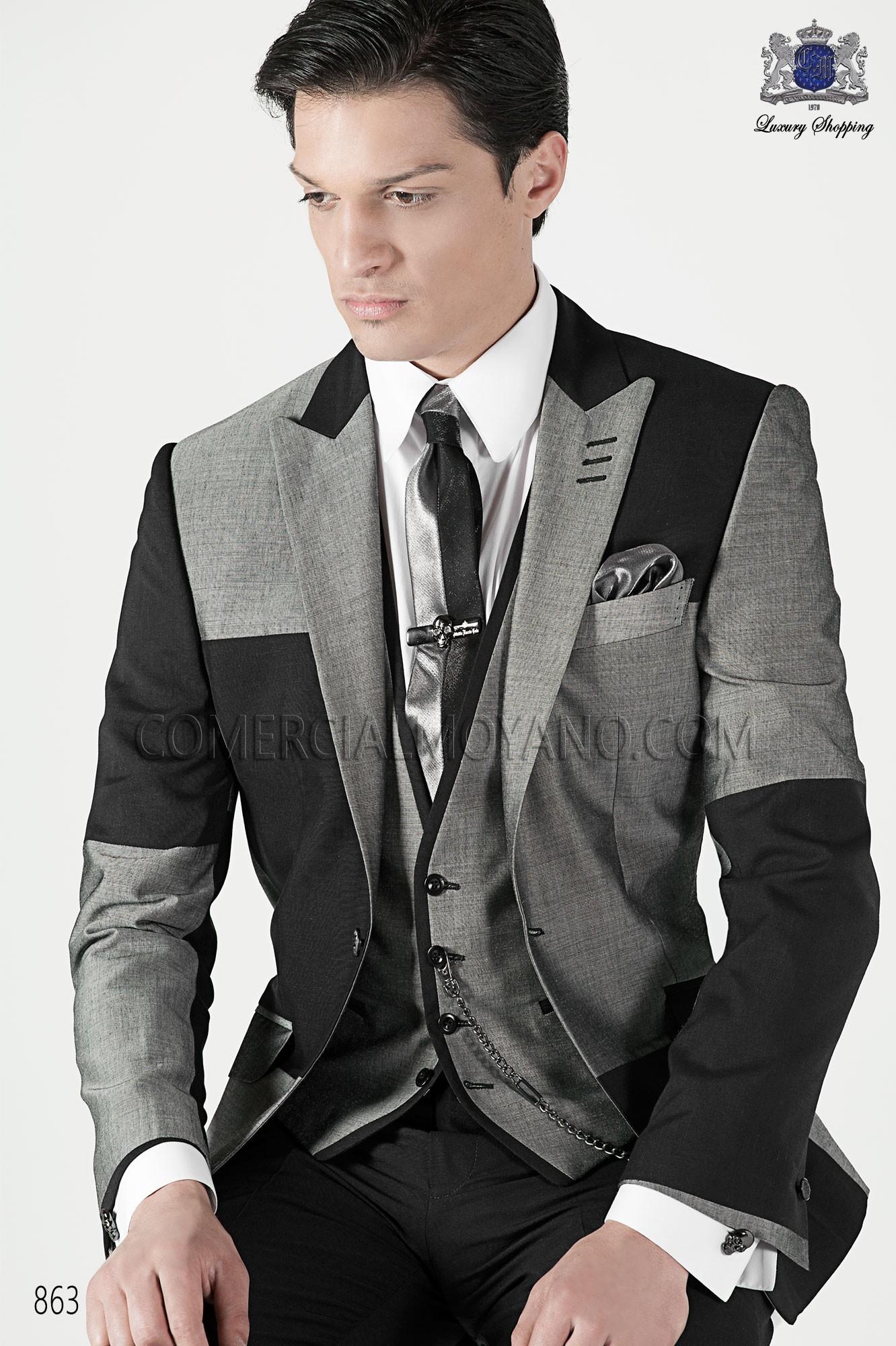 Traje de moda hombre gris modelo: 863 Ottavio Nuccio Gala colección Emotion 2017