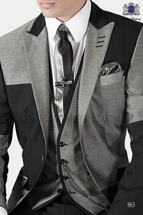 Gray fashion waistcoat