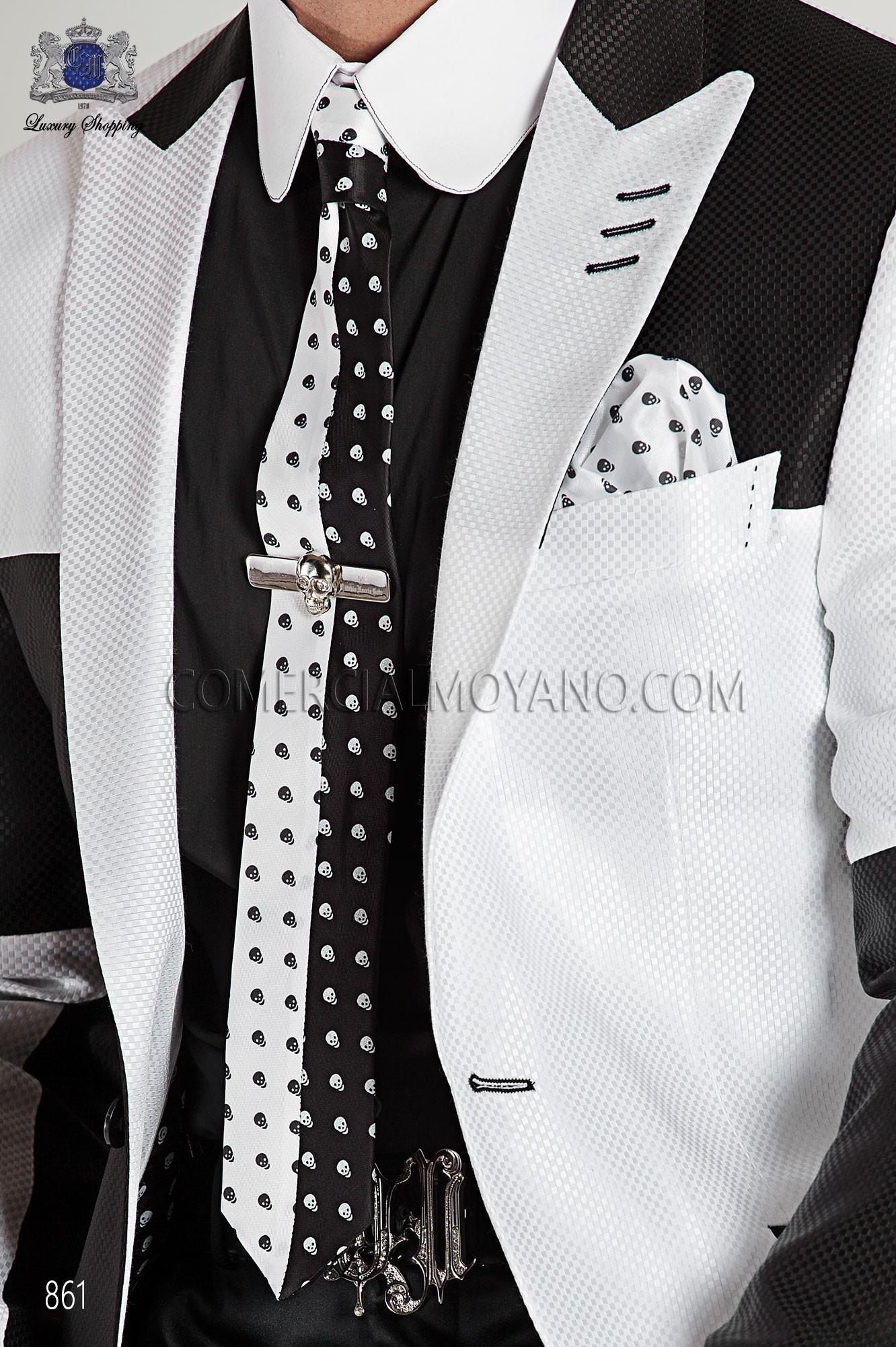 Traje Emotion de novio negro-blanco modelo: 861 Ottavio Nuccio Gala colección Emotion