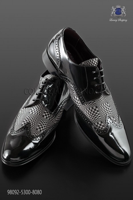 "Black & white leather ""Golf"" shoes"