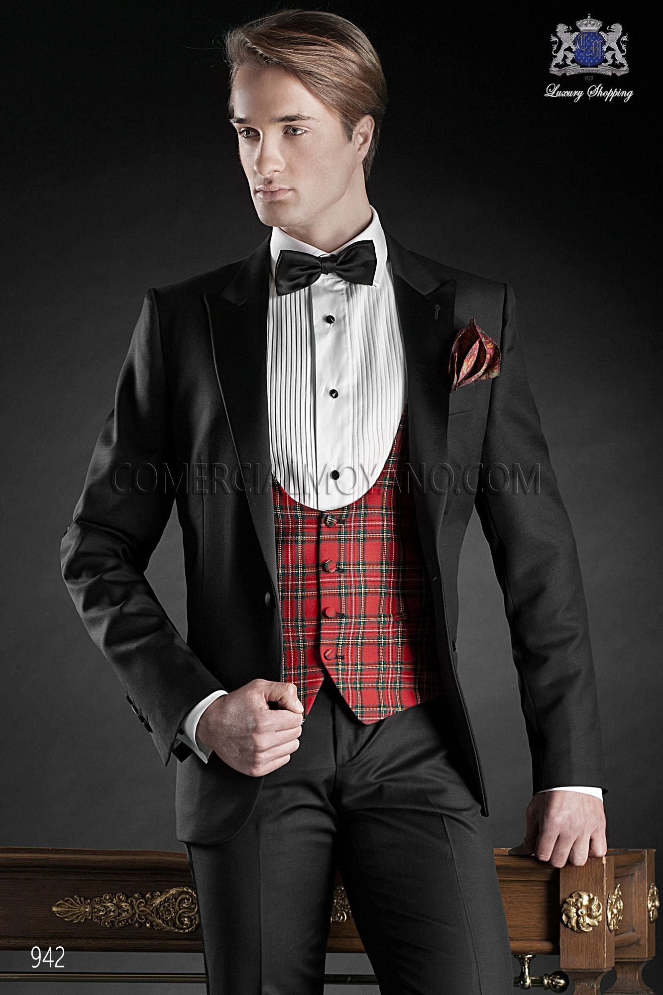 Traje de fiesta hombre negro modelo: 942 Ottavio Nuccio Gala colección Black Tie 2017