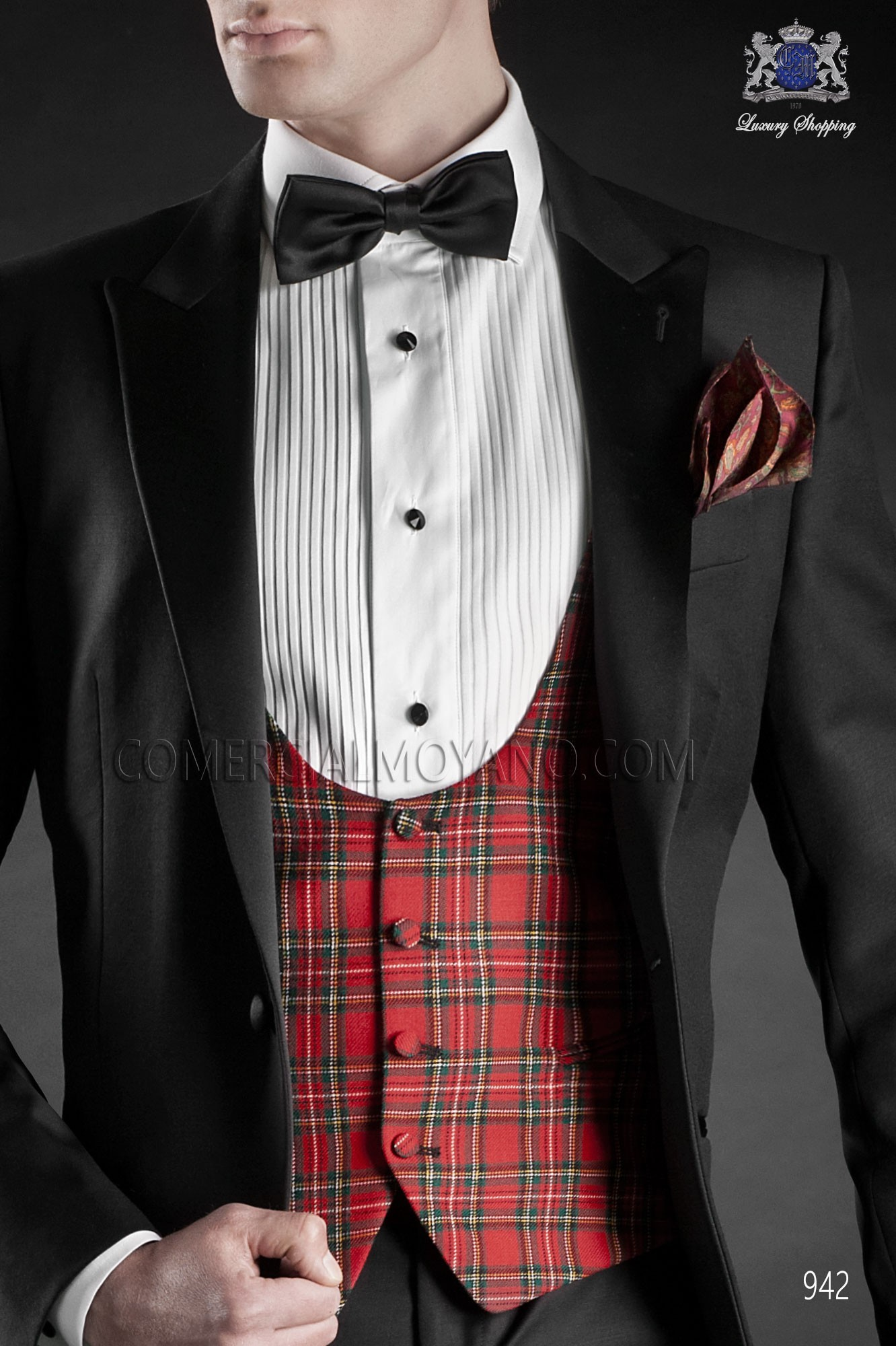 Italian blacktie black men wedding suit, model: 942 Ottavio Nuccio Gala Black Tie Collection