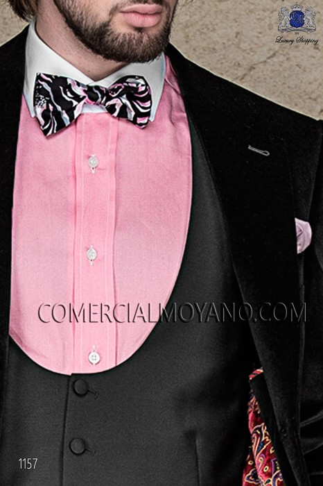 Bow tie and black printed silk scarf 56572-2681-8600 Ottavio Nuccio Gala.