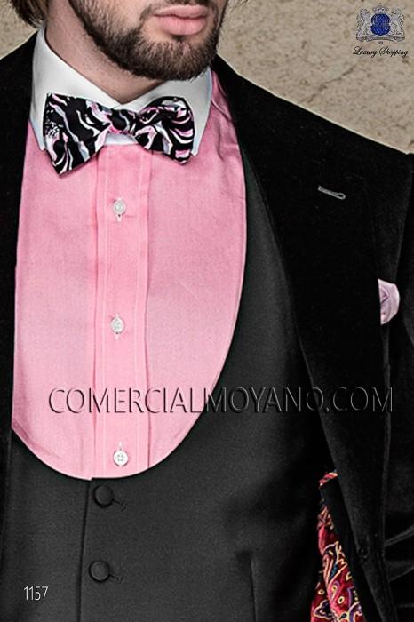 Bow tie and black printed silk scarf 56572-2681-8600 Ottavio Nuccio Gala.