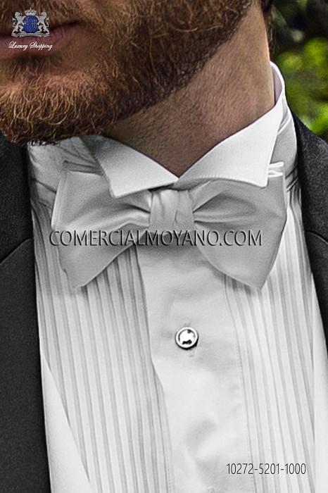 White satin bow tie 10272-5201-1000 Ottavio Nuccio Gala.
