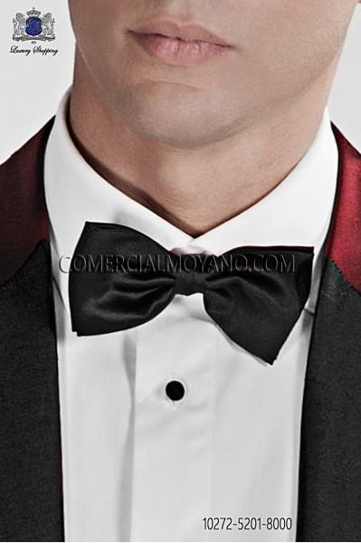 Black satin bow tie 10272-5201-8000 Ottavio Nuccio Gala.