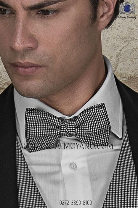 Houndstooth silk bow tie 10272-5390-8100 Ottavio Nuccio Gala.