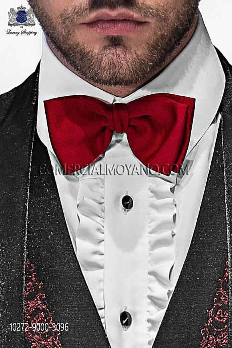 Red silk bow tie 10272-9000-3096 Ottavio Nuccio Gala.