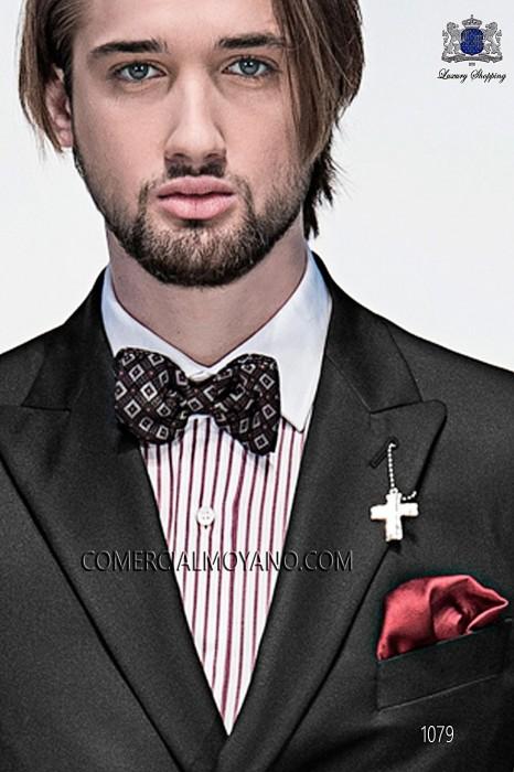 Gray silk bow tie 10272-9000-7085 Ottavio Nuccio Gala.