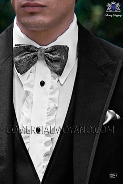 Gray cashmere silk bow tie 10272-9000-7097 Ottavio Nuccio Gala.