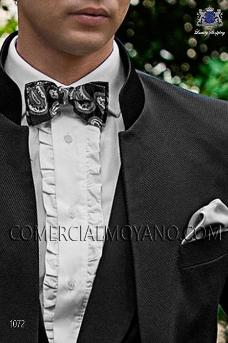 Gray silk cashmere bow tie 10272-9000-7099 Ottavio Nuccio Gala.