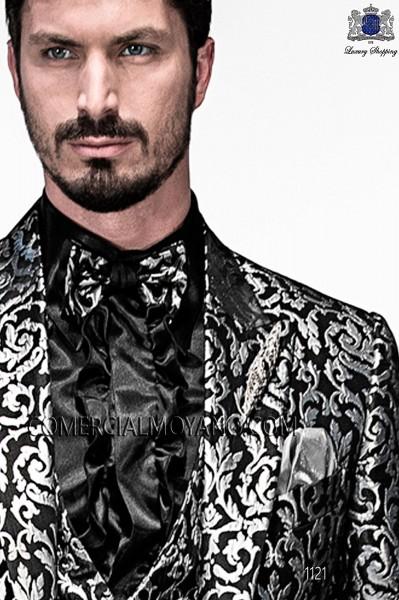Black bicolor bow tie 10289-5146-8000 Ottavio Nuccio Gala.
