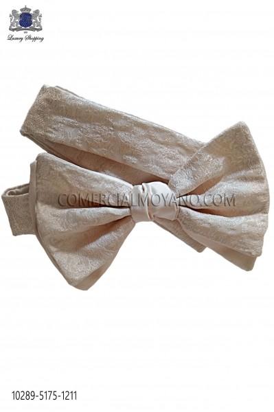Ivory bicolor bow tie 10289-5175-1211 Ottavio Nuccio Gala.