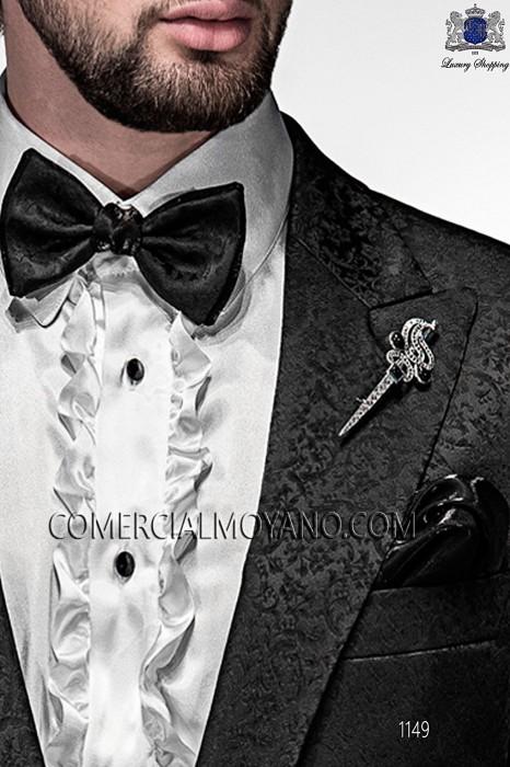 Blue bicolor bow tie 10289-5396-8000 Ottavio Nuccio Gala.
