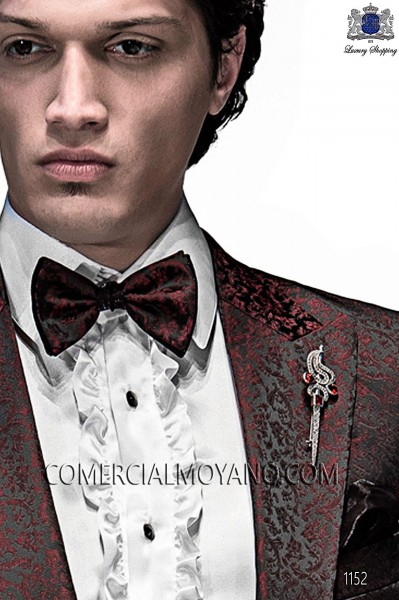 Black and red bicolor bow tie 10289-5396-8300 Ottavio Nuccio Gala.