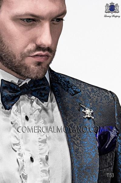 Black and blue bicolor bow tie 10289-5396-8650 Ottavio Nuccio Gala.
