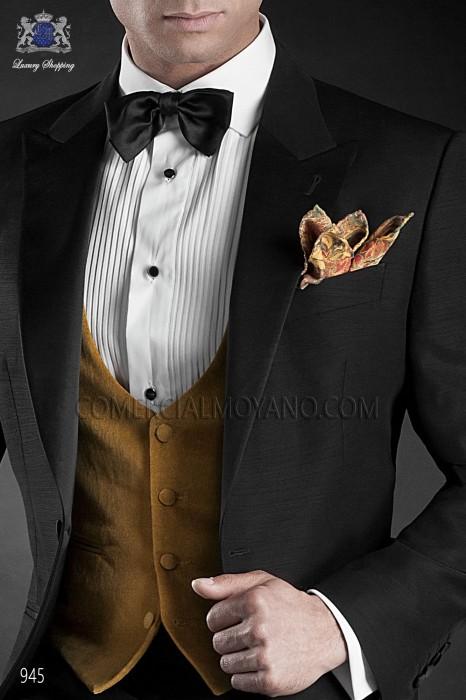 Gold-tone velvet waistcoat