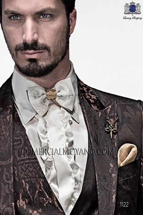 Black bicolor bow tie 56589-2761-2212 Ottavio Nuccio Gala.