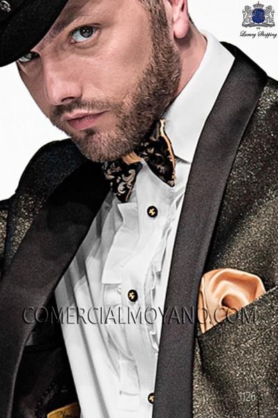 Silk bicolor bow tie 56589-6100-8220 Ottavio Nuccio Gala.