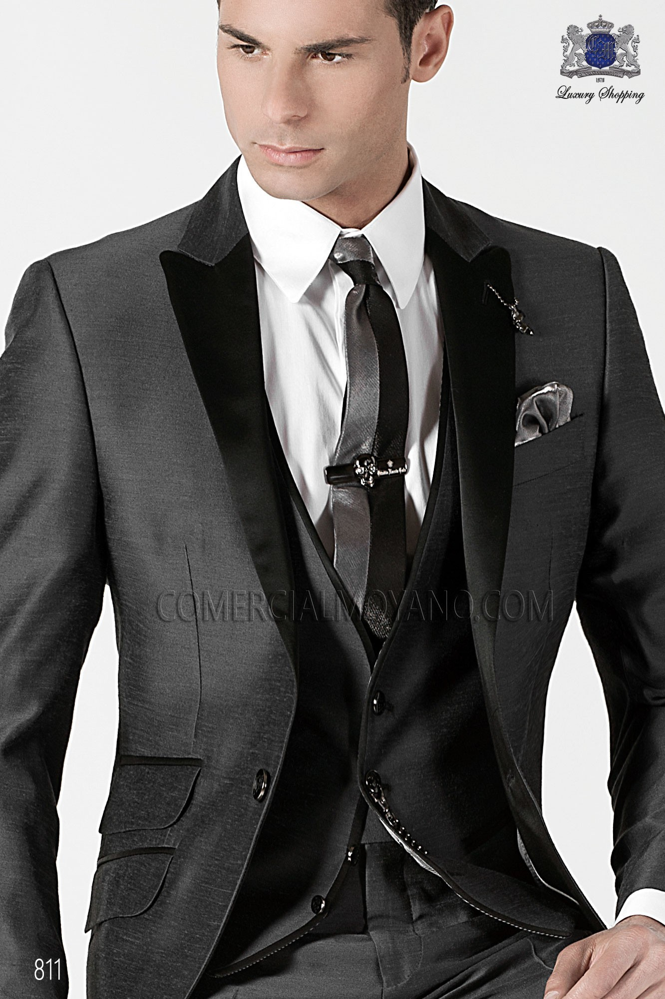 High Fashion Emotion gray men wedding suit, model: 811 Ottavio ...