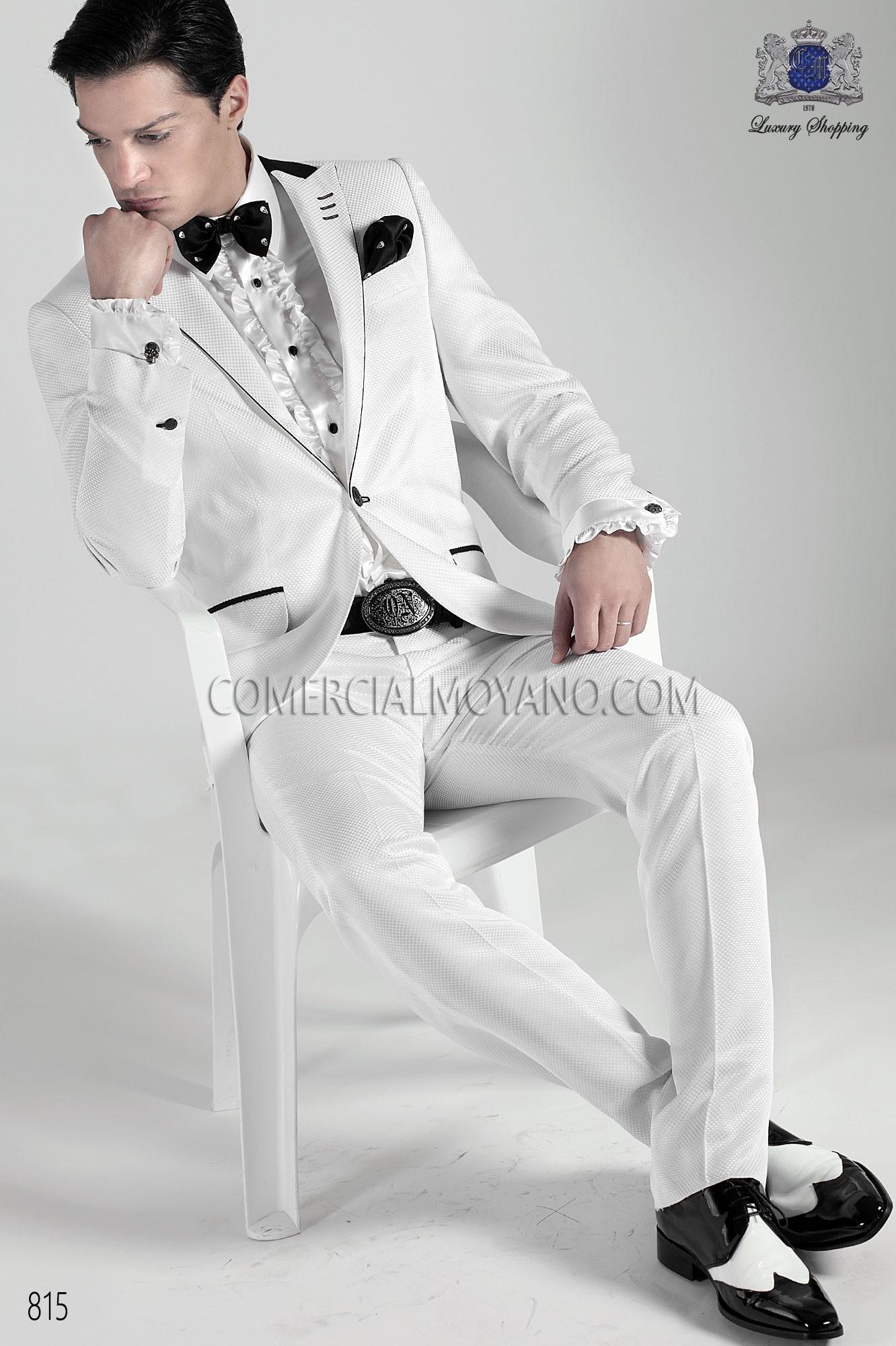 Traje de moda hombre blanco modelo: 815 Ottavio Nuccio Gala colección Emotion