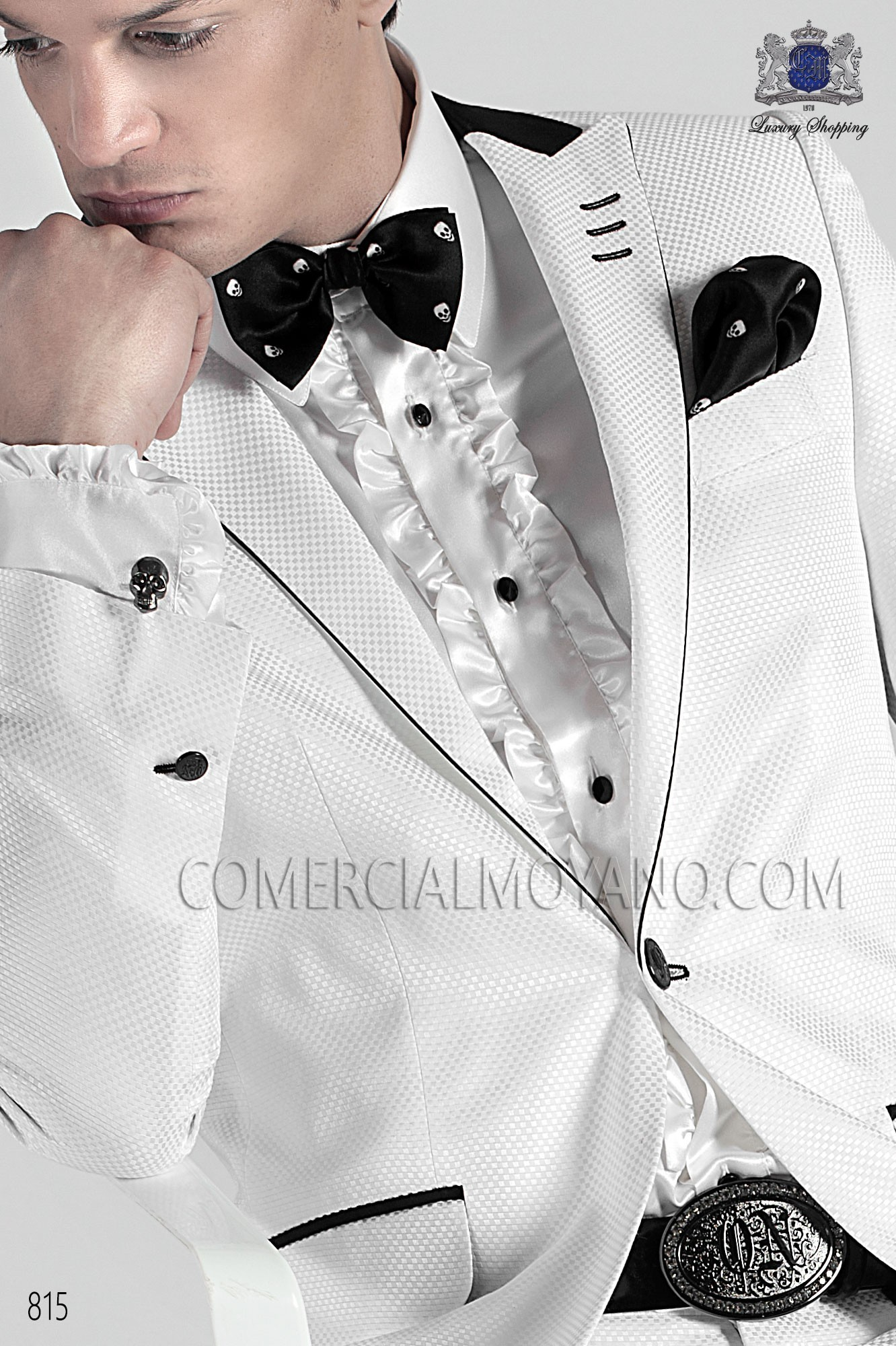 Italian emotion white men wedding suit, model: 815 Ottavio Nuccio Gala Emotion Collection