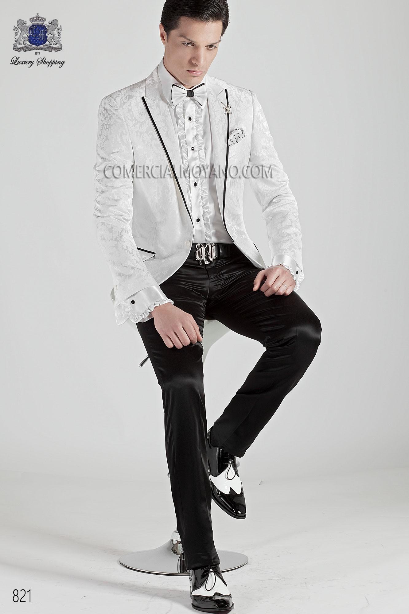 Traje de moda hombre blanco modelo: 821 Ottavio Nuccio Gala colección Emotion