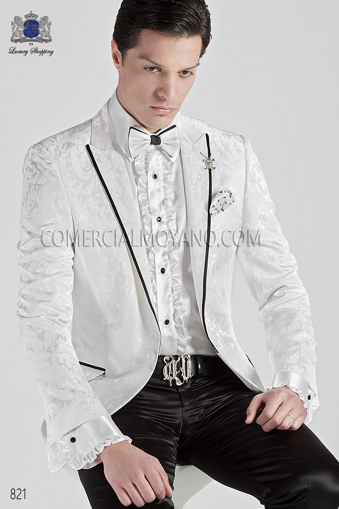 Traje Emotion de novio blanco modelo: 821 Ottavio Nuccio Gala colección Emotion