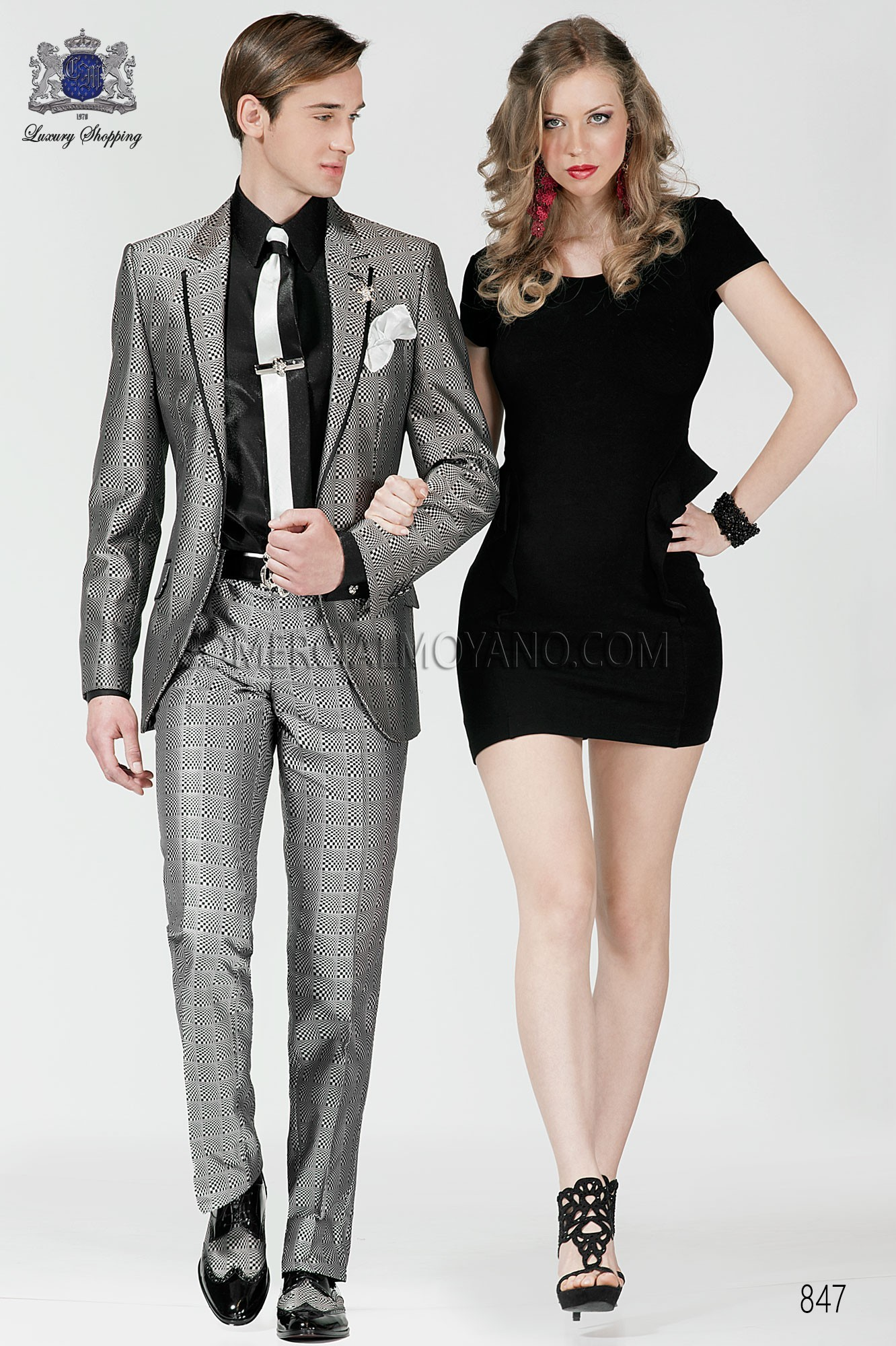 Emotion white-black men wedding suit model 847 Ottavio Nuccio Gala